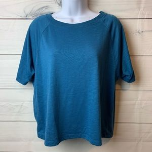 Tops - 🦋6/$25🦋 Blue oversized cropped top